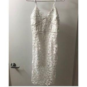 Bar III White Lace Sheath Dress Size Small